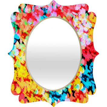 Rebecca Allen A Watered Garden Quatrefoil Mirror
