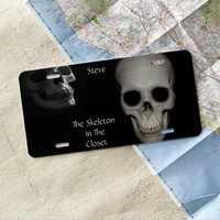 Skeleton in the Closet License Plate Cover