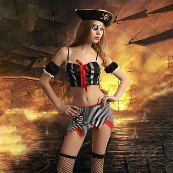 Temptation's Pirate Includes  Hat Top and Skirt, Great for Role Play Macchar Cosplay Catalogue