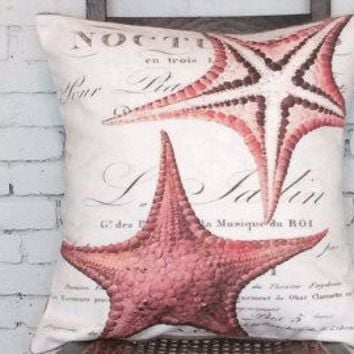 Starfish Pillow Cover.