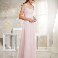 Alfred Angelo 8632L Floor Length One Shoulder Tank Soft Net Bridesmaid Dress