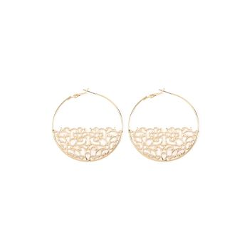 Bottom Filigree Hoop Earrings