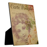 French Postcard Plaque