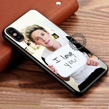 One Direction Niall Horan I Love You Sign iPhone X 8 7 Plus 6s Cases Samsung Galaxy S8 Plus S7 edge NOTE 8 Covers #iphoneX #SamsungS8