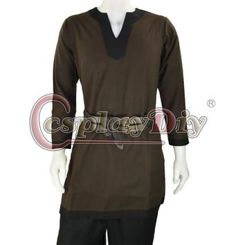 Medieval Men Costume Brown Viking Norseman Lotr Men's All Period Shirt Tunic Custom Made