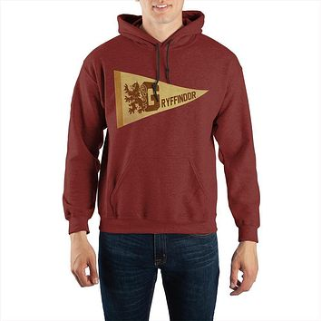 Harry Potter Gryffindor Pennant Pullover Hooded Sweatshirt