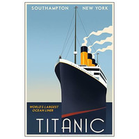 Acme Archives Titanic Retro Travel Poster