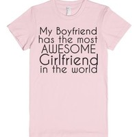 Awesome Boyfriend/Girlfriend T-Shirt-Female Light Pink T-Shirt