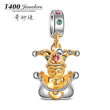 Free Shipping New T400 Jewelers#QF003Collection Baby Shape Made With SWAROVSKI Elements BEADS,925 Sterling Silver bead forWomen