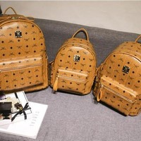 SPBEST MCM BROWN STARK BACKPACK