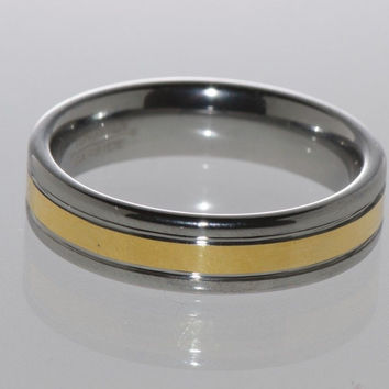 Mens Tungsten Ring Wedding Band Double Grooved 6mm