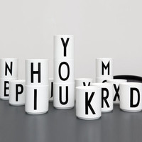 DISCONTINUED / design letters / porcelain cups