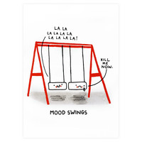 Gemma Correll Mood Swings Greeting Card