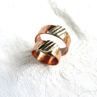 His and Hers Rings, Unisex Ring, Stripes, Ring for Him, Gift for Him, Rustic Ring, Wedding Band