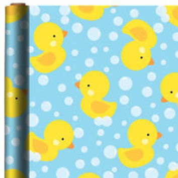 Rubber Duck Gift Wrap 5ft x 30in