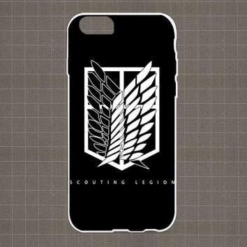 Shingeki No Kyojin-Scouting Legion iPhone 4/4S, 5/5S, 5C Series Hard Plastic Case