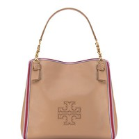 Tory Burch Harper Stripe Center-zip Tote