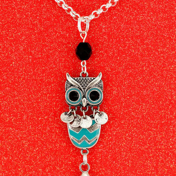 Interchangeable Lucky Owl Lanyard Necklace ID Badge Holder