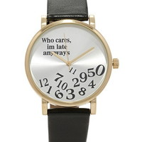 Faux Leather Late Watch
