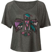 Billabong Detail Please Womens Tee Charcoal  In Sizes