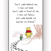 Disney Winnie The Pooh Quotes for iPhone 4/4S Case *