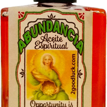 Opportunity Is Knocking, Spiritual Oil for Magic & Rituals. Aceite Espiritual Abundancia