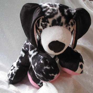 Great Dane - black and white spotted - Cuddly PUPPY - Toy Dog Animal - soft stuffed plushie - Handmade OOAK