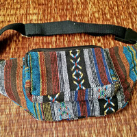 Fanny pack Festival Boho Ethnic Tribal Styles belt belly Bags Bum Pouch Travel hip sack phanny waist Ikat Hippies Gypsy Hmong Woven Thai
