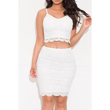 Make It Lovely Two Piece Set Off White
