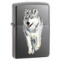 Zippo Wolf Lighter Black Ice   769