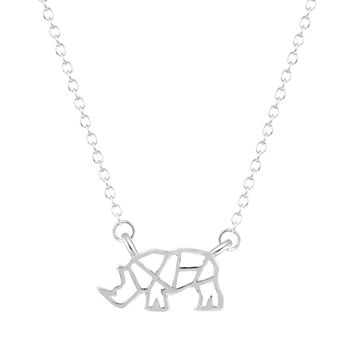 Rhino Necklace - Honoring West African Rhino Extinction