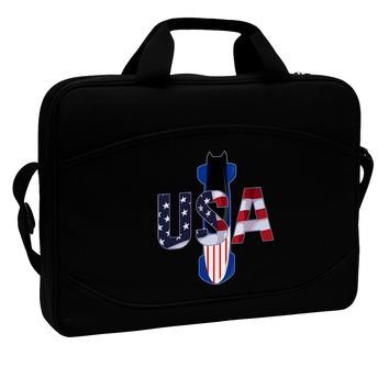 """USA Bobsled 15"""" Dark Laptop / Tablet Case Bag by TooLoud"""