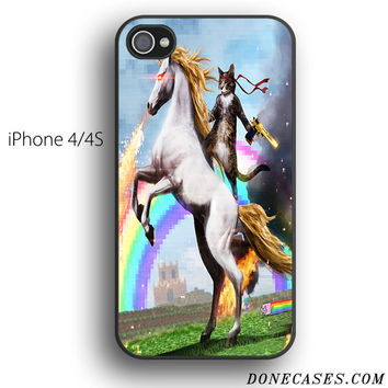 cat ride unicorn case for iPhone 4[S]