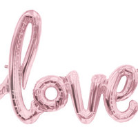 Giant Love Script Balloon
