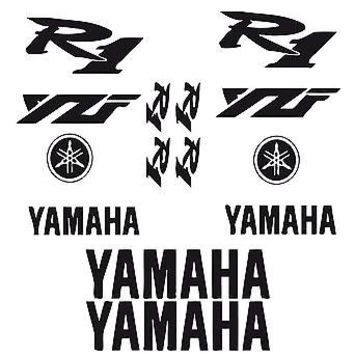 BIKE CHOPPER GAS TANK FLAMES TRIBAL VINYL DECAL STICKER YAMAHA YZF R1 02