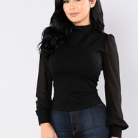 Glory Days Top - Black