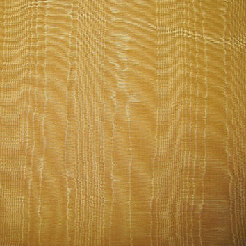 """Gold Moire Fabric Upholstery Crafts Gorgeous Sheen Vintage 29"""" wide Remnant of 2 1/2 yards"""