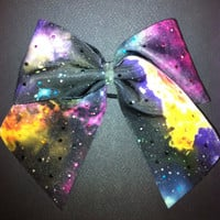 3in. Galaxy Cheerbow with Rhinestuds
