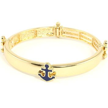 anchor sea life nautical stretch bracelet