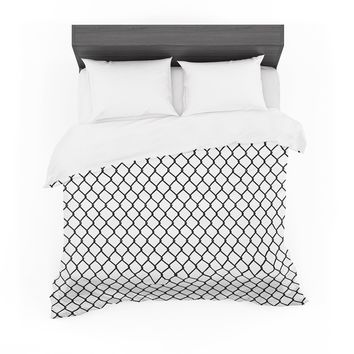 """Project M """"Chain Link"""" Black White Digital Featherweight Duvet Cover"""
