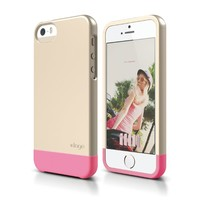 elago S5 Glide Case for iPhone 5/5S - eco friendly Retail Packaging (Champagne Gold / Hot Pink)
