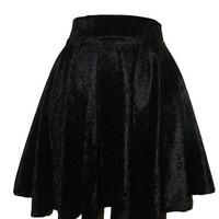 SKATER Retro Velvet Skirt Short Size 6 8 10 12 high waisted Circle NEW
