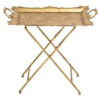 Baroque Gold Serving Tray Table