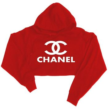 Chanel Cropped Hooded Sweatshirt