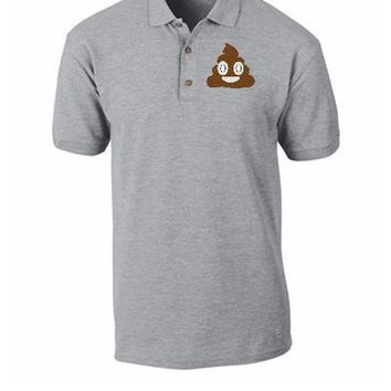 emoji shit Bucket Hat, - Polo Shirt