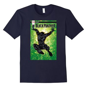 Marvel Black Panther Jungle Jump Comic Cover Graphic T-Shirt