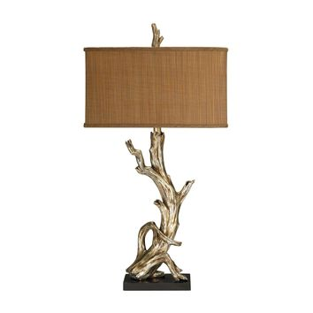 91-840 Driftwood Table Lamp in Silver Leaf - Free Shipping!
