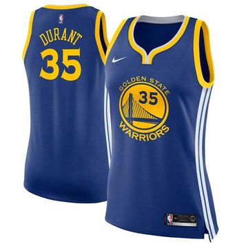 Women's Golden State Warriors Kevin Durant Nike Blue Swingman Jersey - Icon Edition