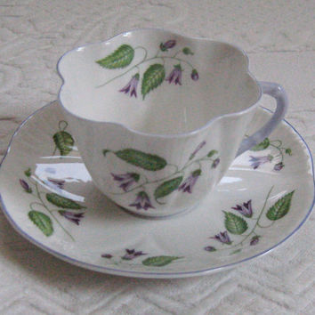 Vintage Fine Porcelain BELLFLOWER TEA CUP by Shelley 1950s