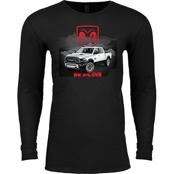 Buy Cool Shirts Dodge T-shirt White Ram Long Sleeve Thermal